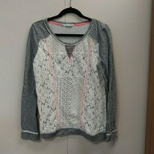 Maurices lace sweater